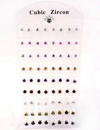 E038 - 36 paires de B.O zircons couleur