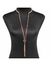 N435-collier sautoir Cupidon épée