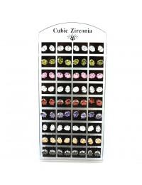 E483-36 paires boucles d'oreilles zirconium ovales