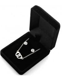 N1039-Parure collier pendentif menottes