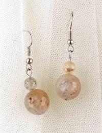E292-boucles d'oreilles pierre