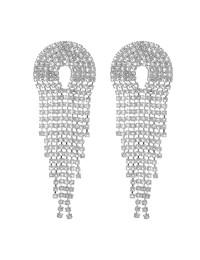 boucles d'oreilles à franges cristaux