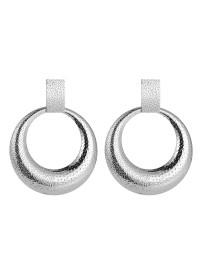 boucles d'oreilles métal cercles rondes