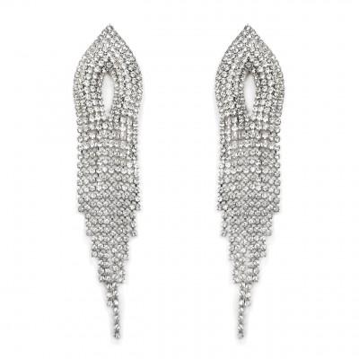 boucles d'oreilles à franges cristaux 1