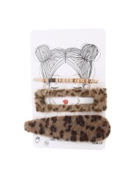 épingle cheveux imprimé léopard